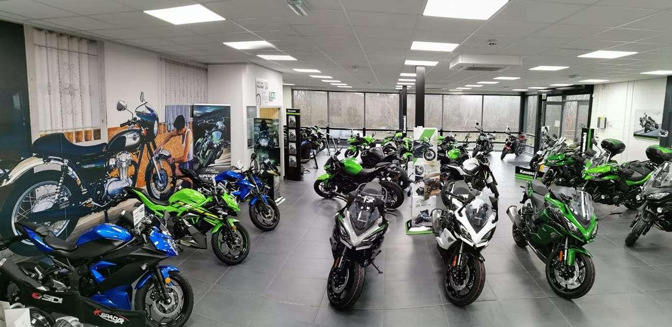 JW Groombridge Kawasaki showroom inside
